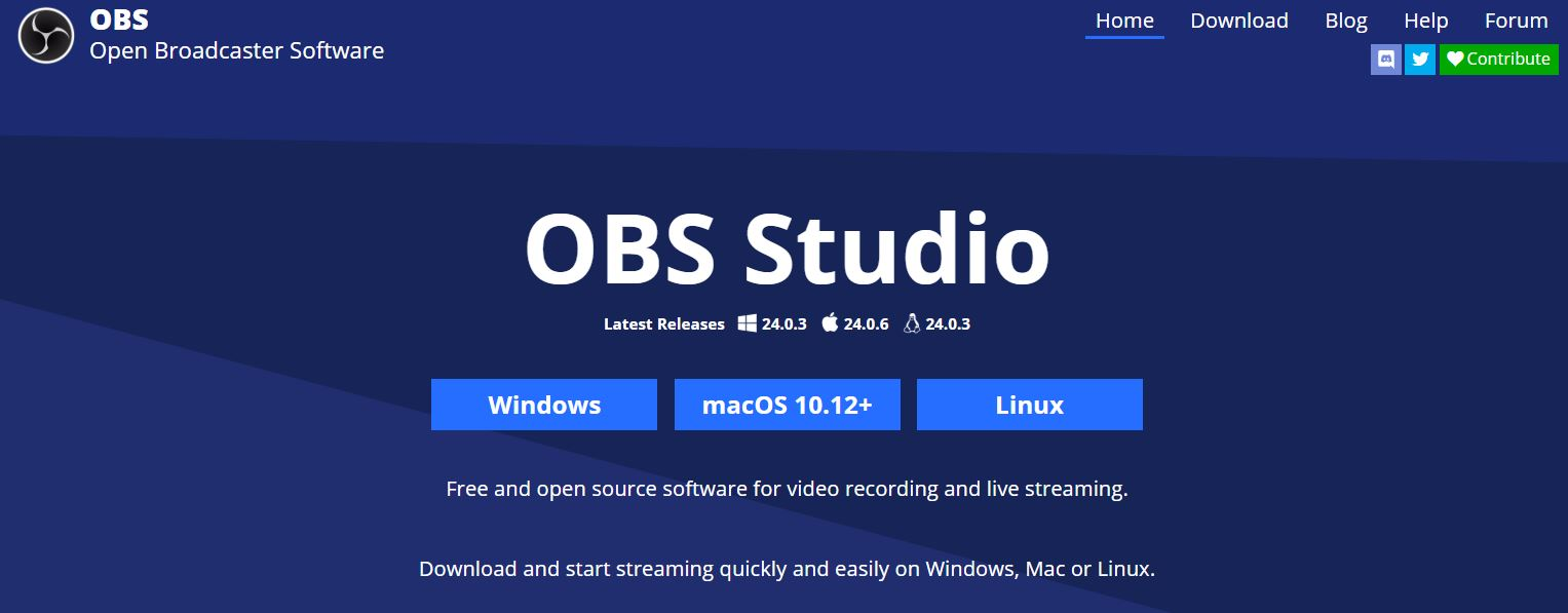 OBS homepage