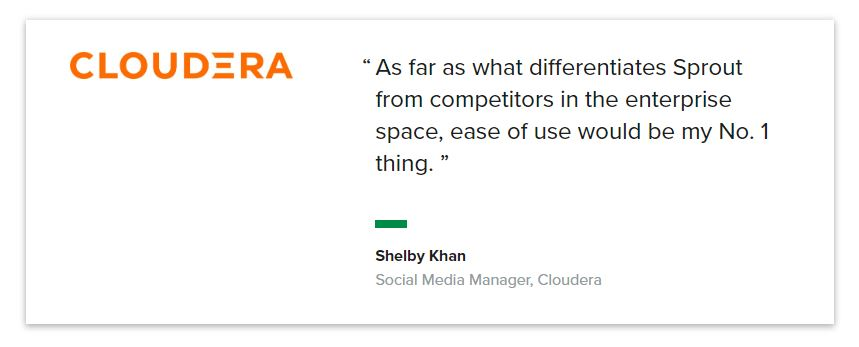 Quote from Cloudera