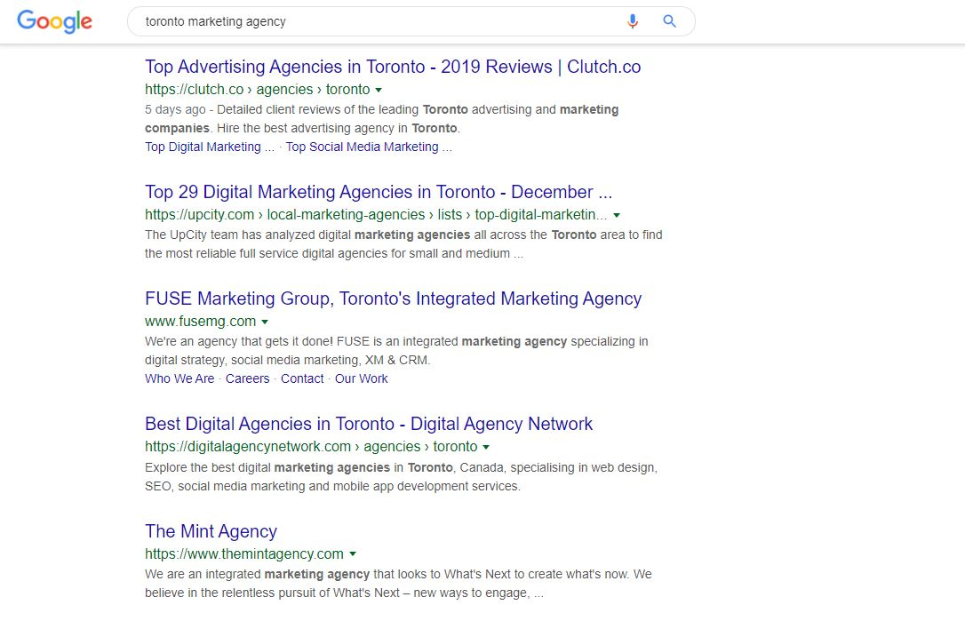 Searching for local agencies