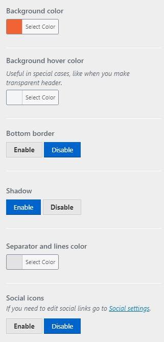 Second header options