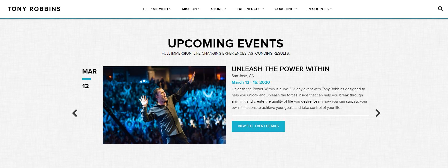 Tony Robbins site