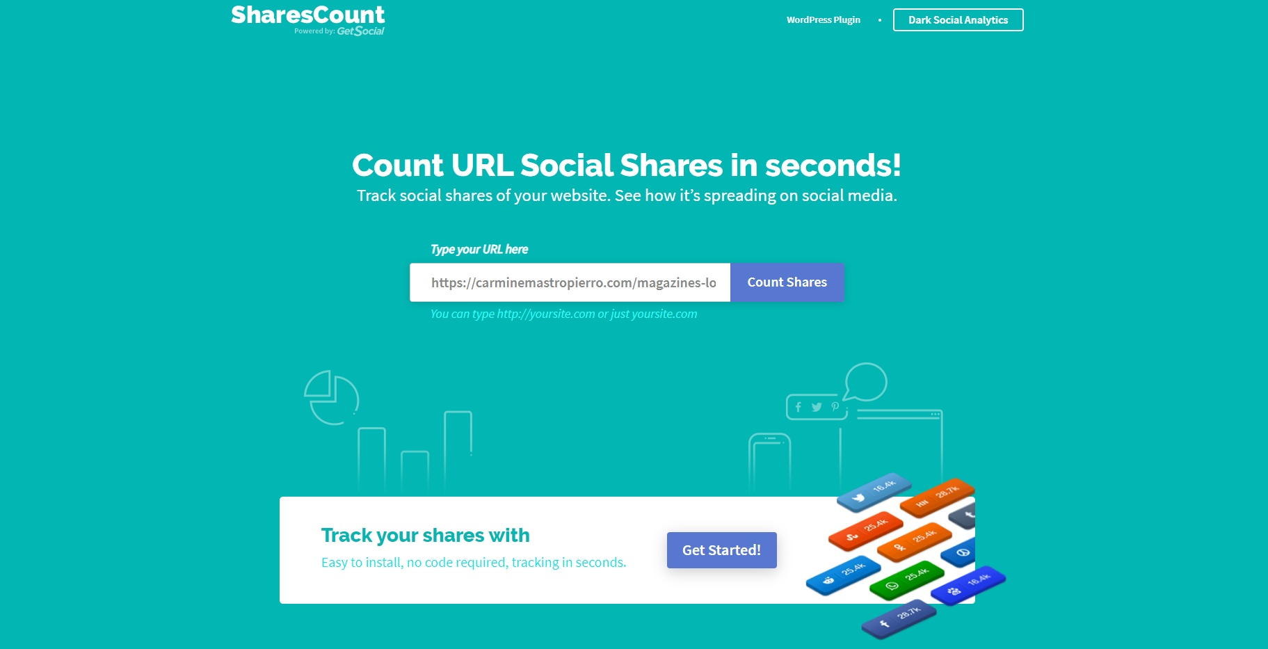 Using SharesCount
