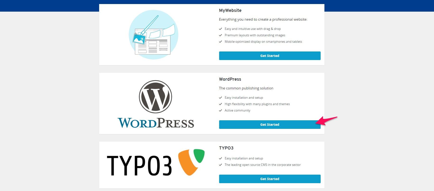 WordPress 1and1
