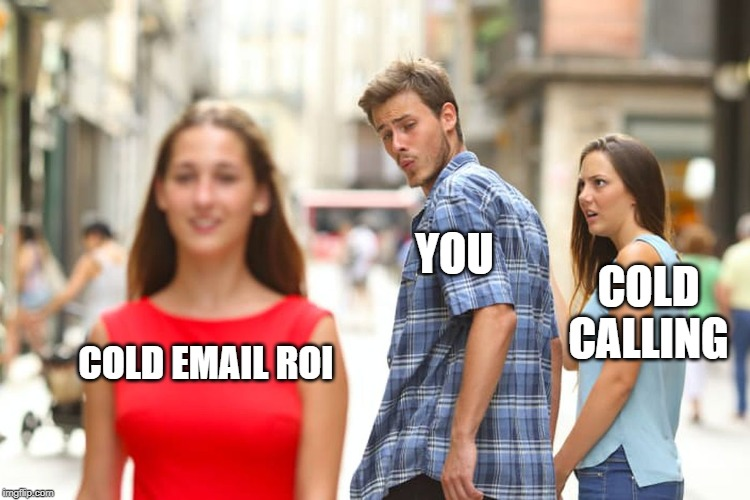 Cold emailing meme