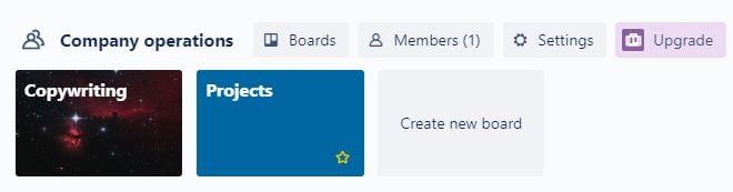 Create a new board on Trello