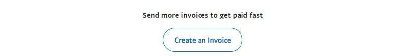 Create invoice button
