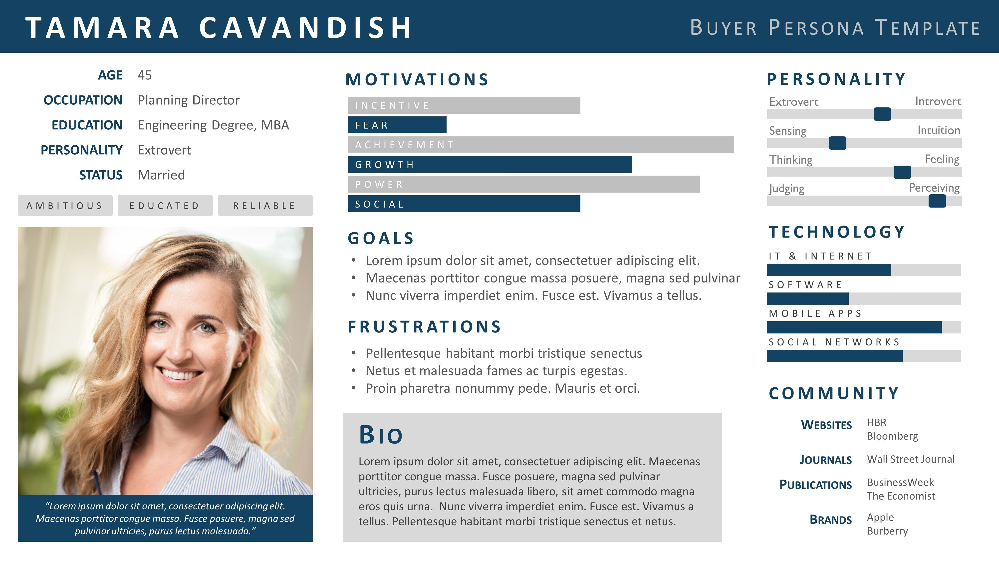 Example of a buyer persona template