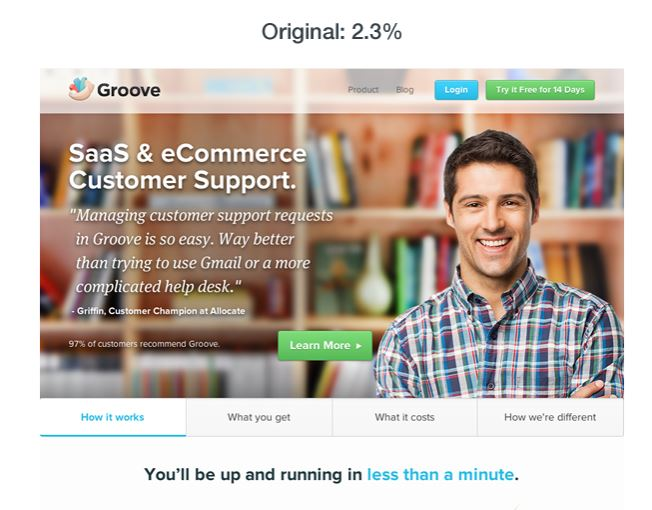 Groove landing page