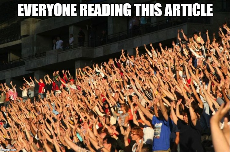 Raising hand meme