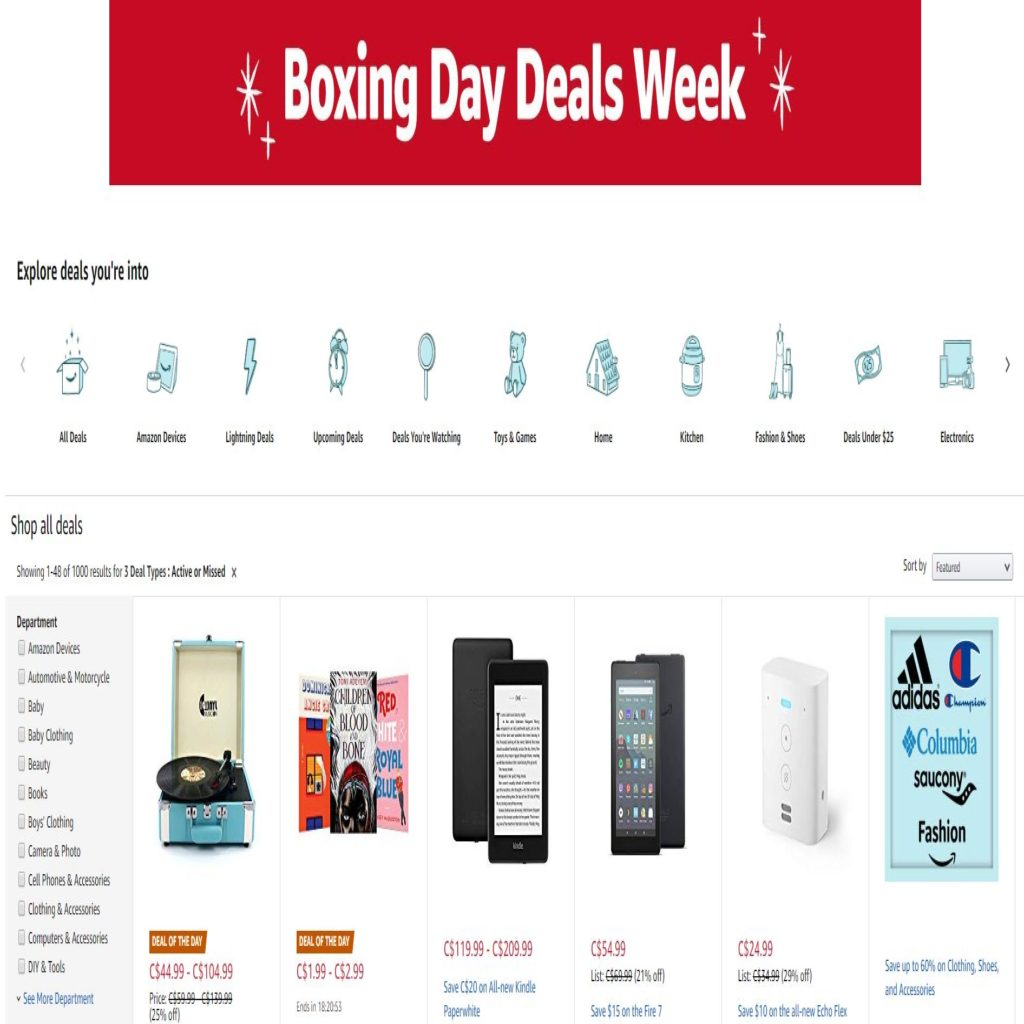 Amazon Boxing Day deals