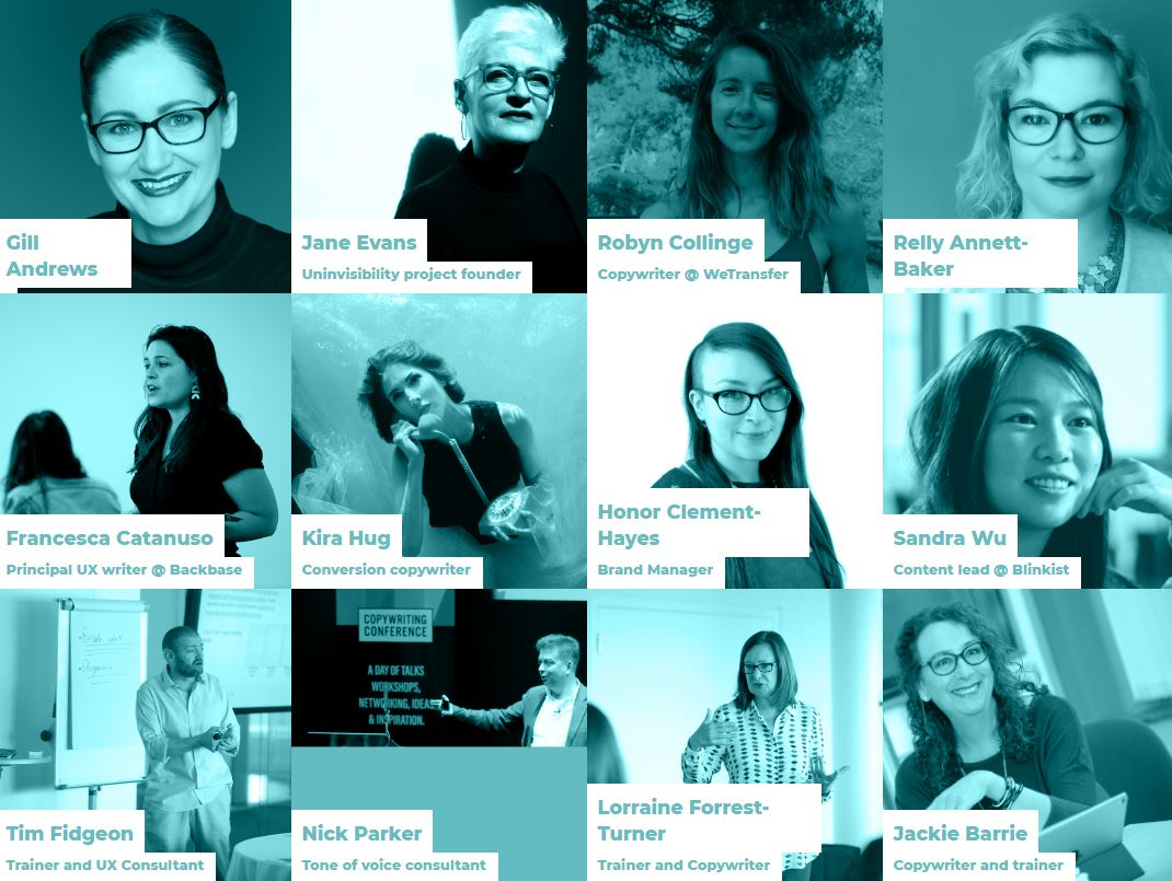 Copywriting Conference speakers