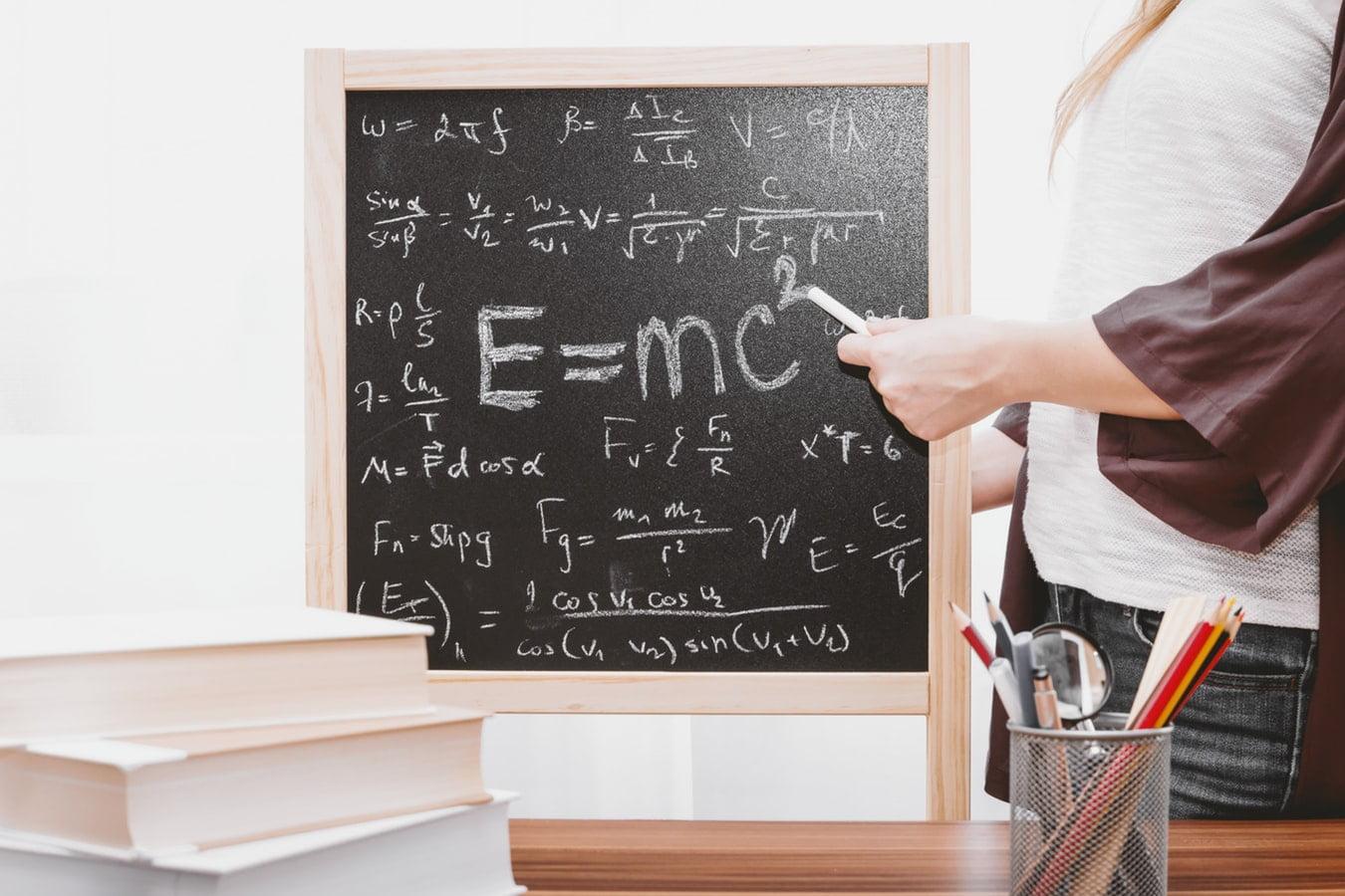 Formula on black board
