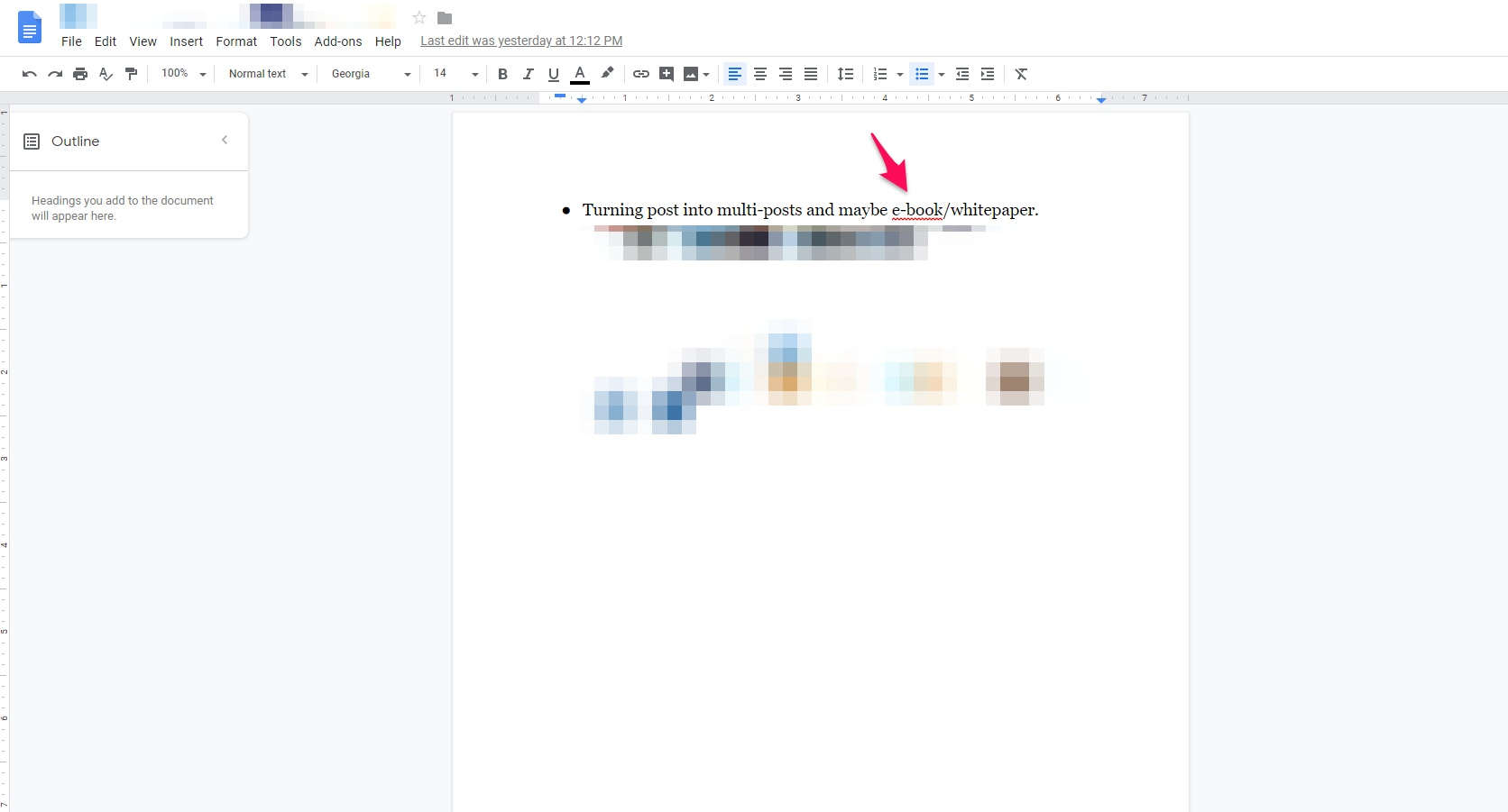 Grammar suggestion in Google Docs