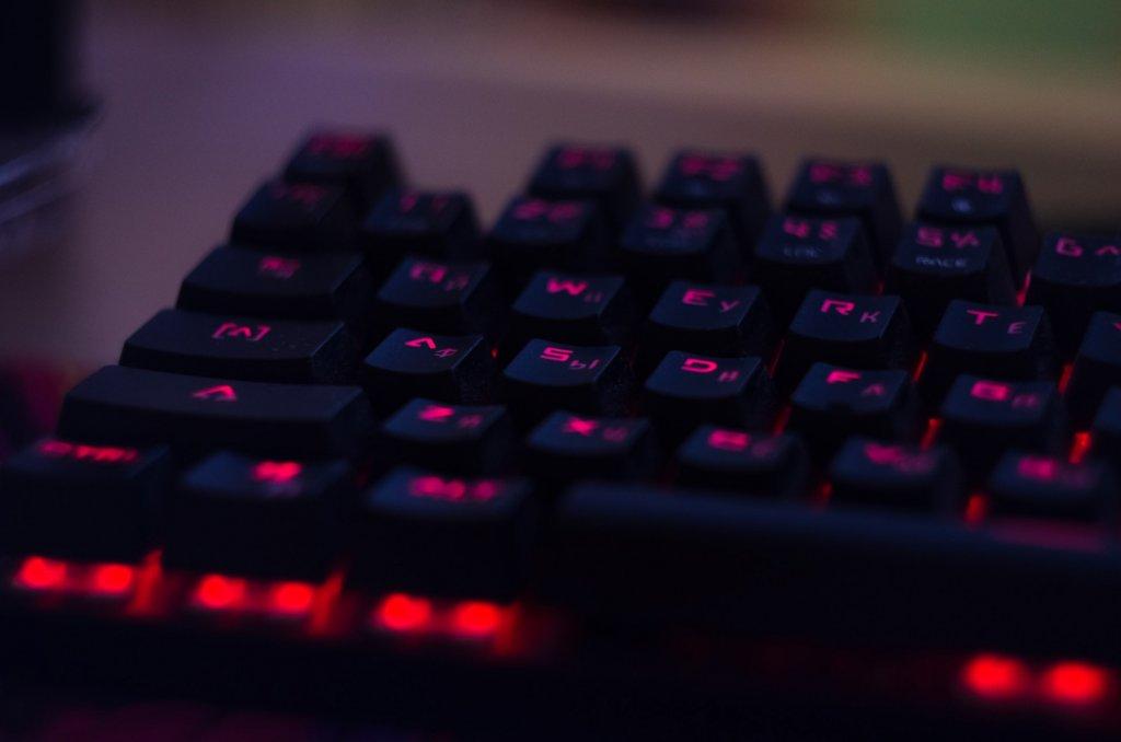 Lit up keyboard