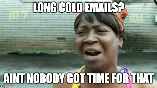 Long cold email meme