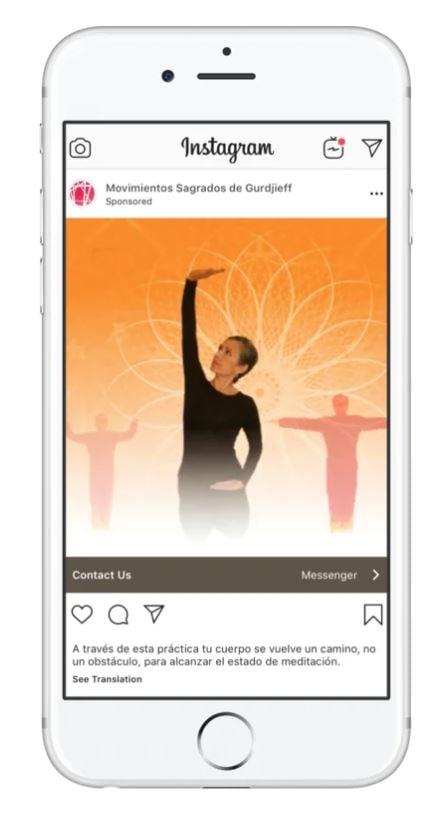 Meditation workshop IG ad example