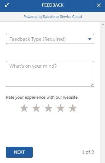 Salesforce feedback chatbot