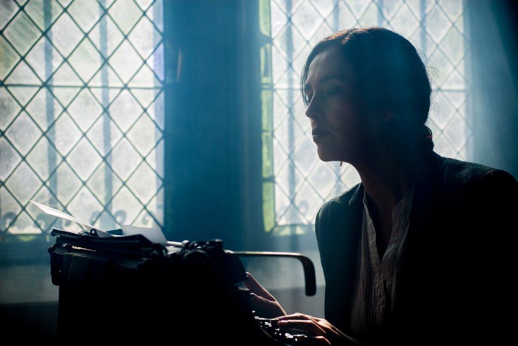 Woman on a typewriter