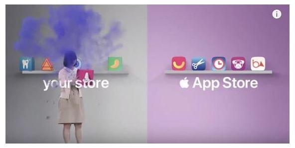 Apple ad mocking Android