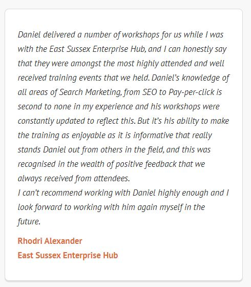 Digital training testimonial
