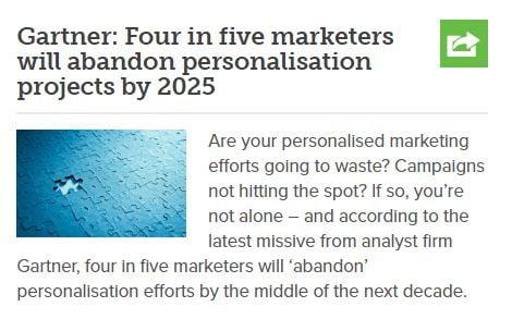 Example of marketing news