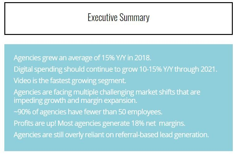 Executive summary of market report