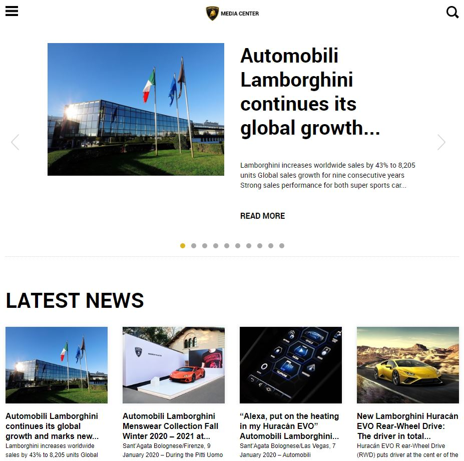 Lamborghini Media Center