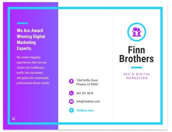 Marketing brochure example