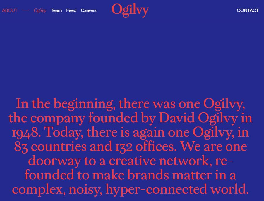 Ogilvy about page