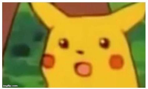 Pikachu surprised face
