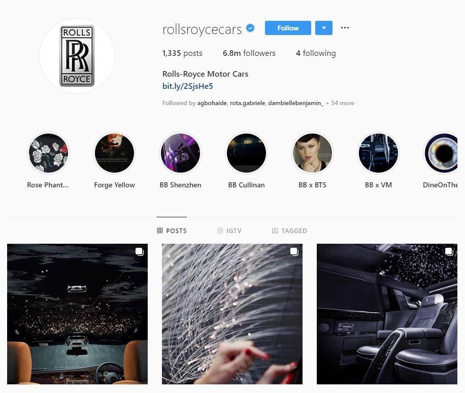 Rolls Royce instagram