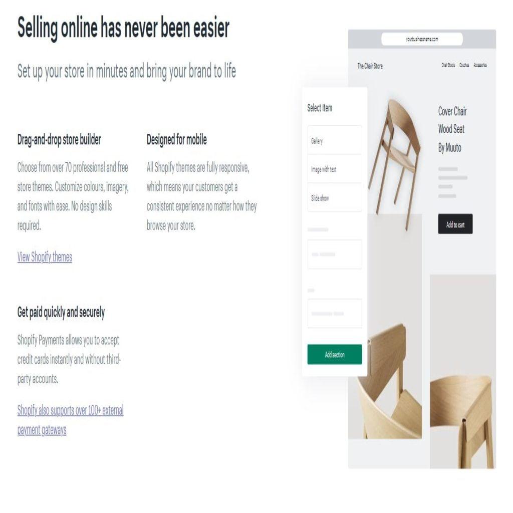 Shopify features vs benefits