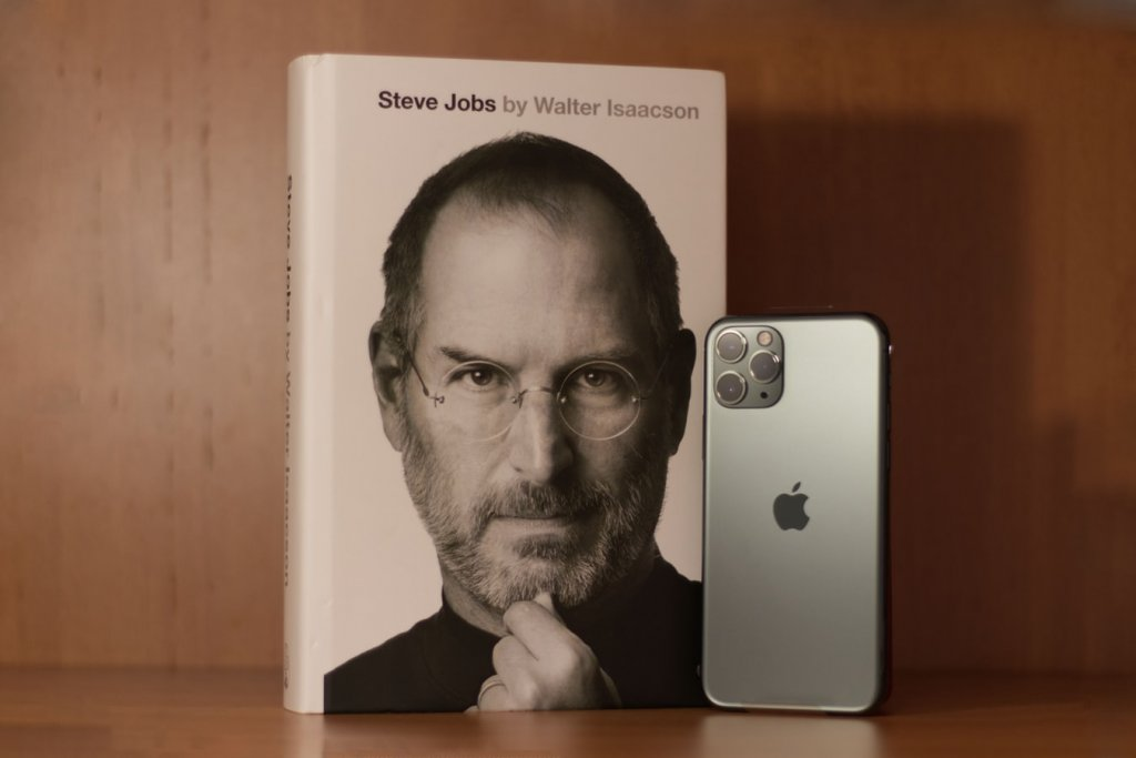 Steve Jobs book and iPhone