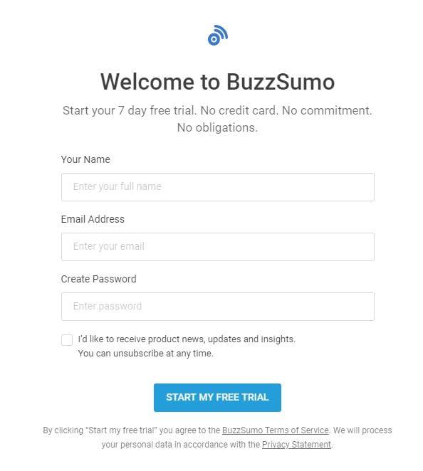 Buzzsumo trial