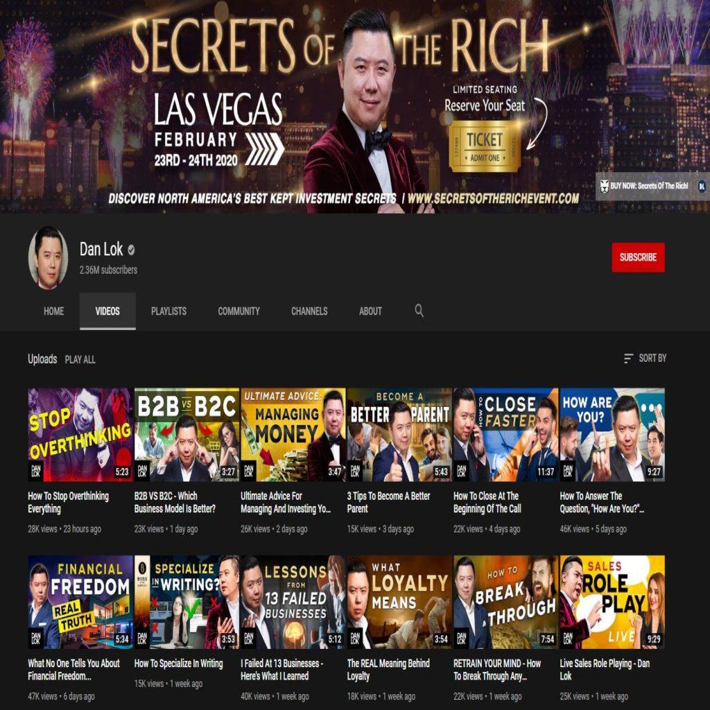 Dan Lok YouTube