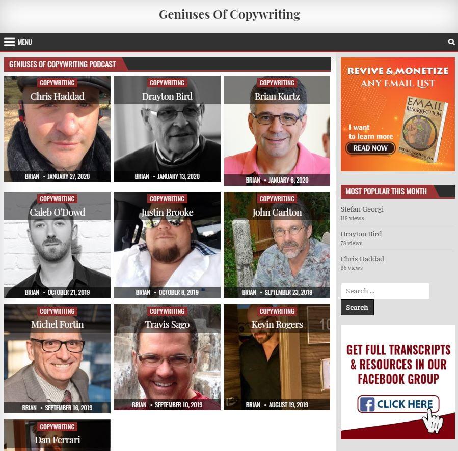 Geniuses Of Copywriting