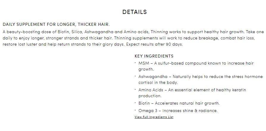 Hair loss product description