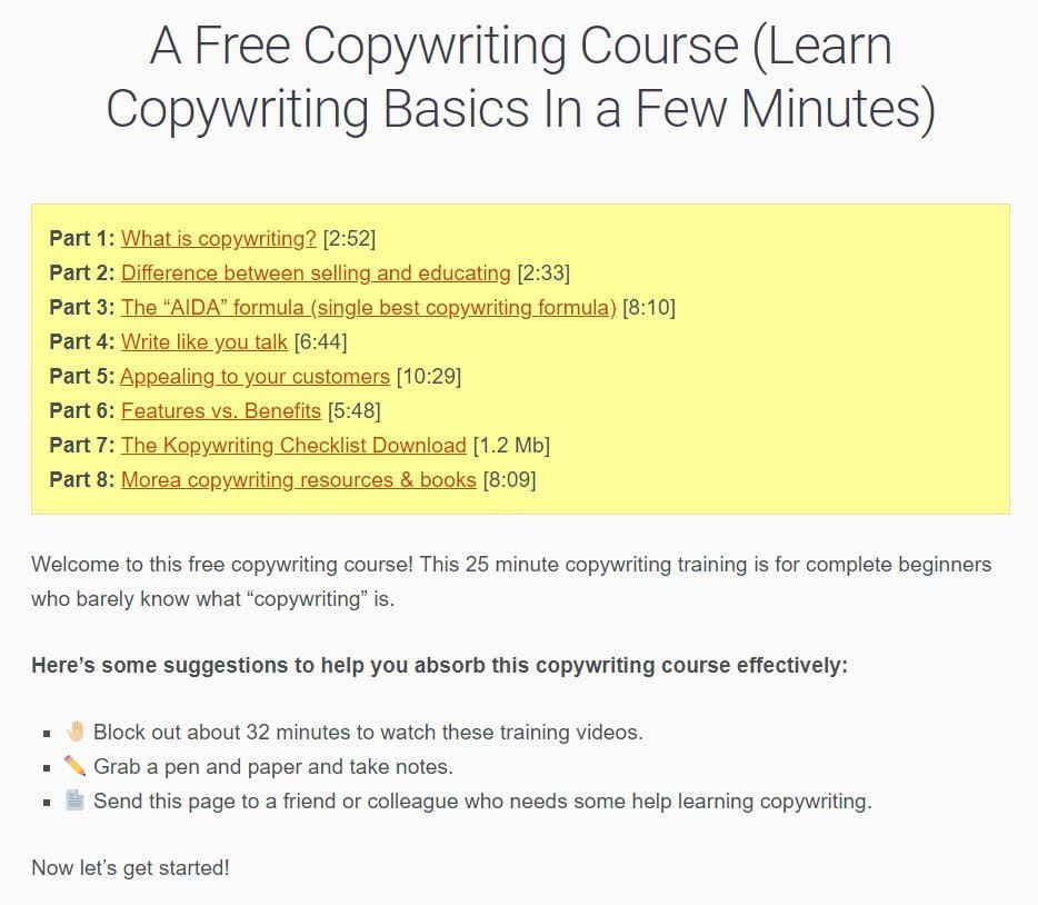 Kopywriting Kourse course