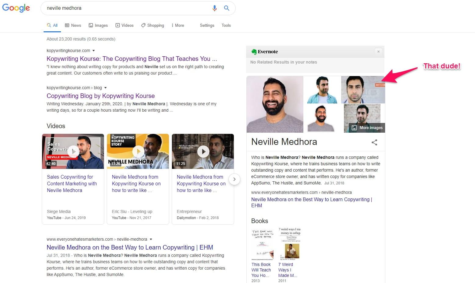 Neville Medhora Google profile