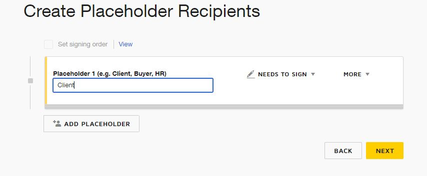 Placeholder DocuSign