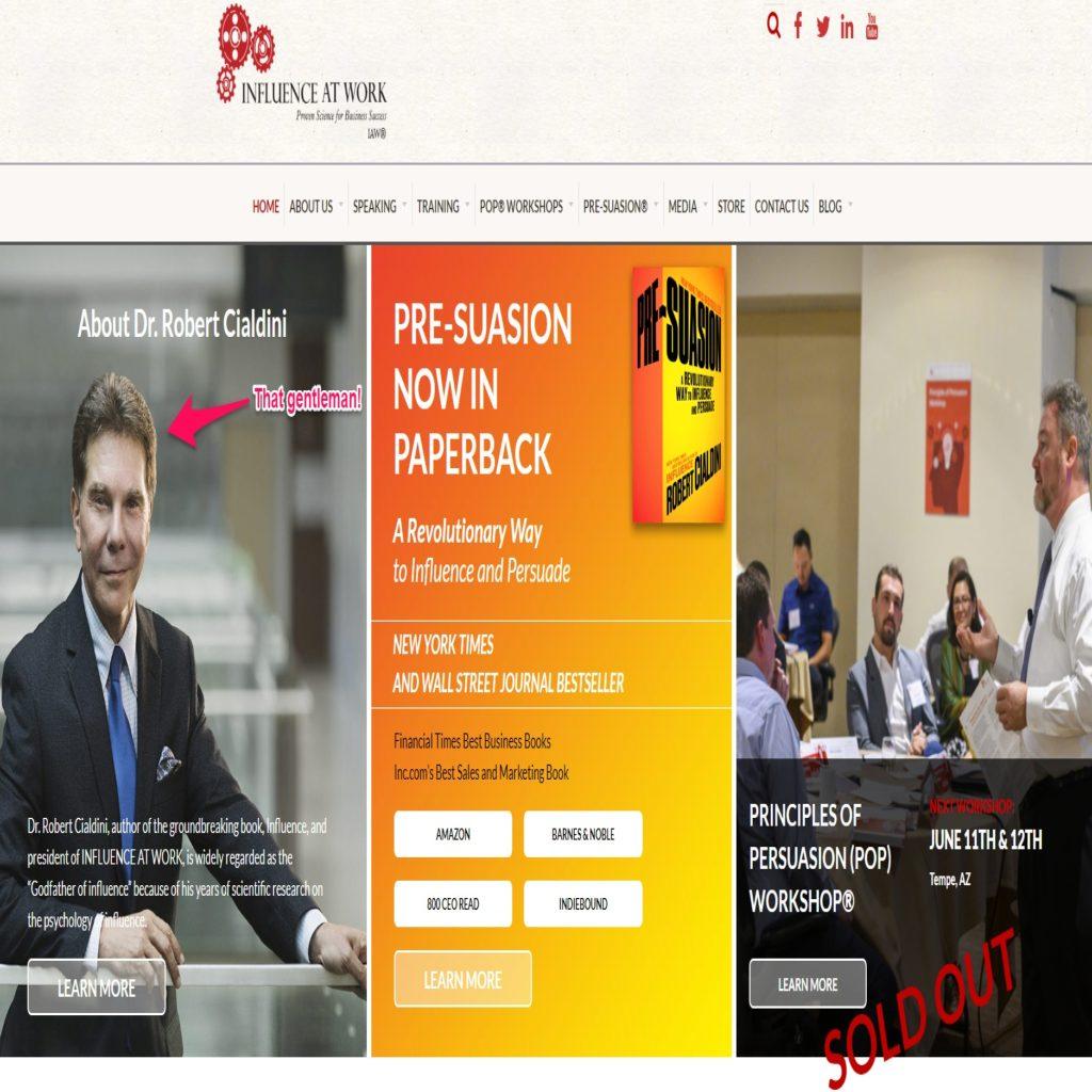Robert Cialdini website