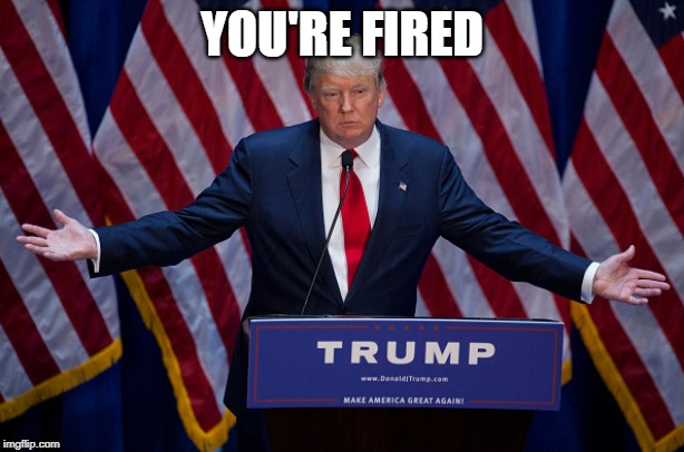 Trump fire meme