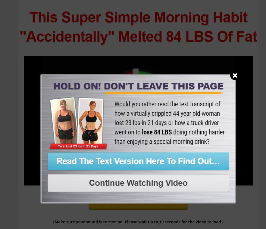 Weight loss copy example