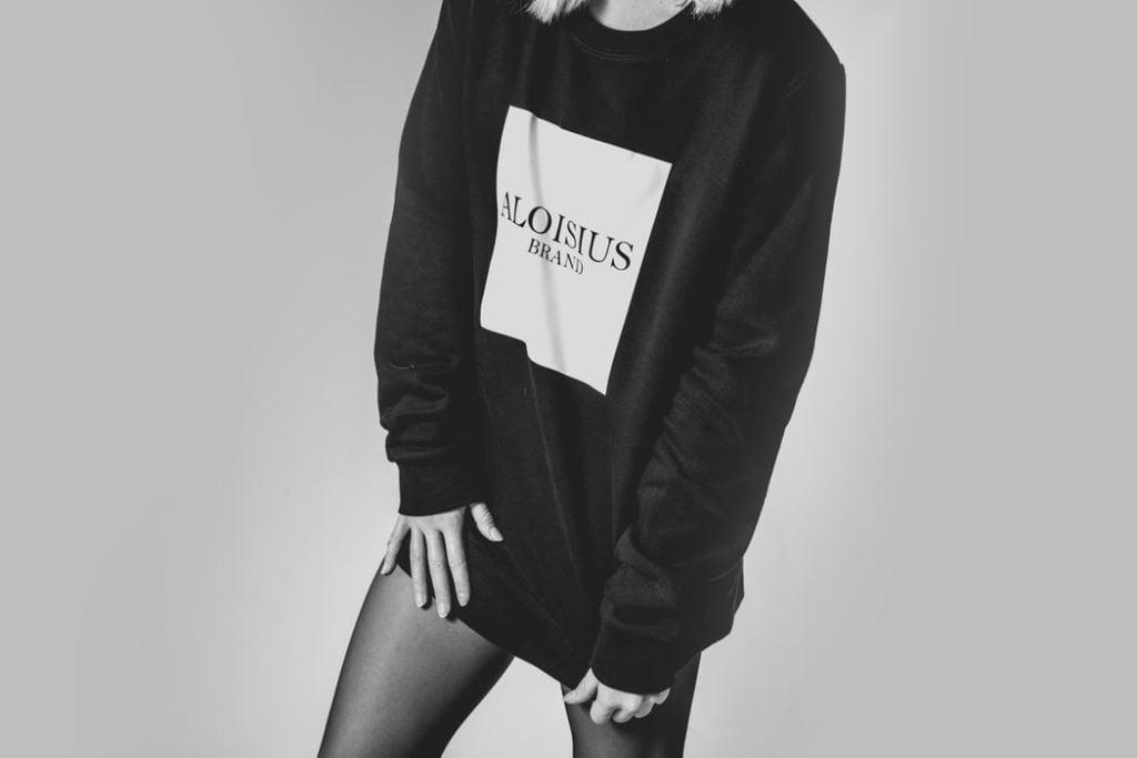 Black and white fashion photo