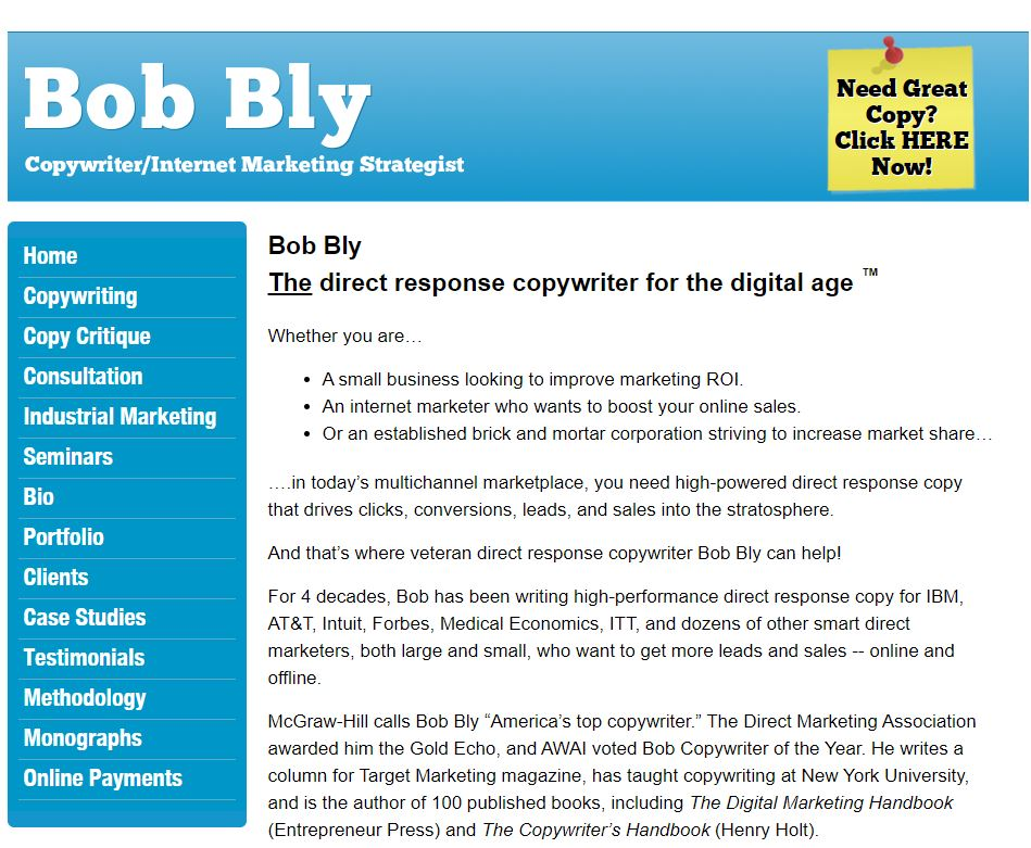 Bob Bly site