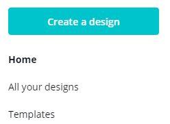 Create a design on Canva