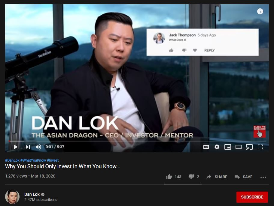 Dan Lok YouTube