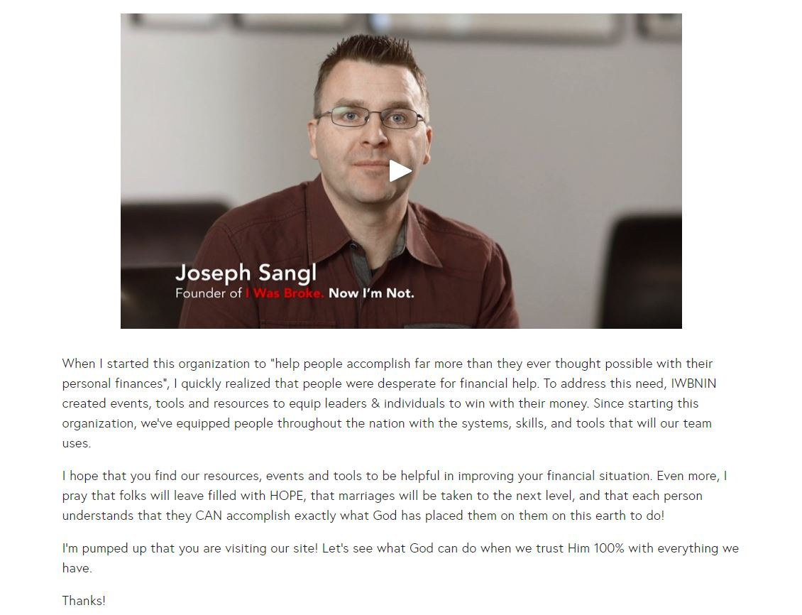Joseph Sangl copywriting