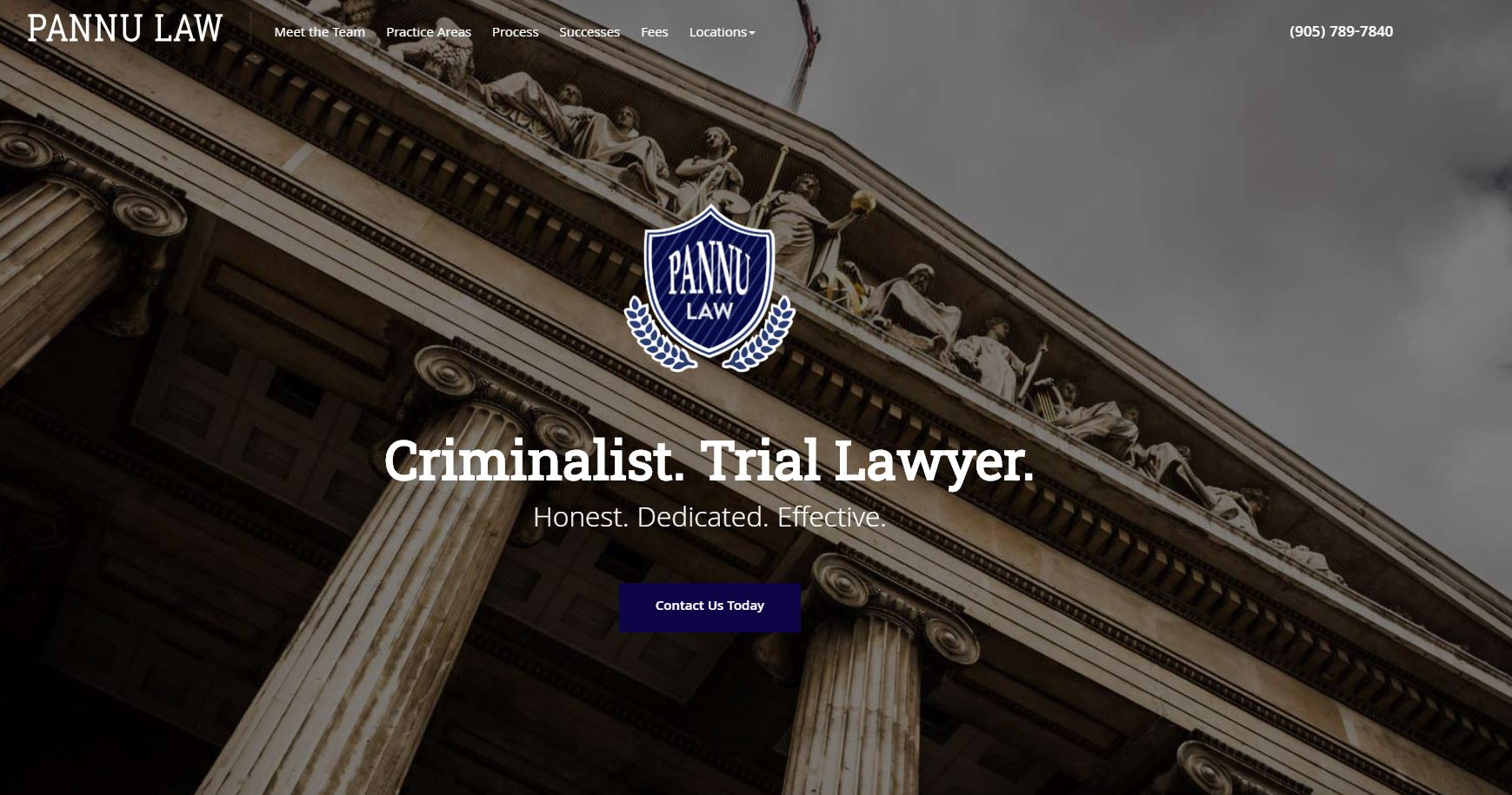 Lawyer homepage copy