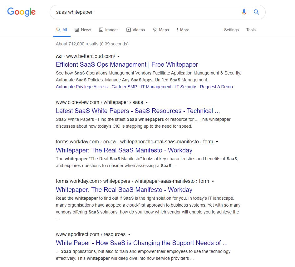 Searching Google for resources